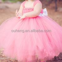 Sweet Pink Toddler Baby Bow Birthday Dress Flower Girl Pixie Tutu Dresses