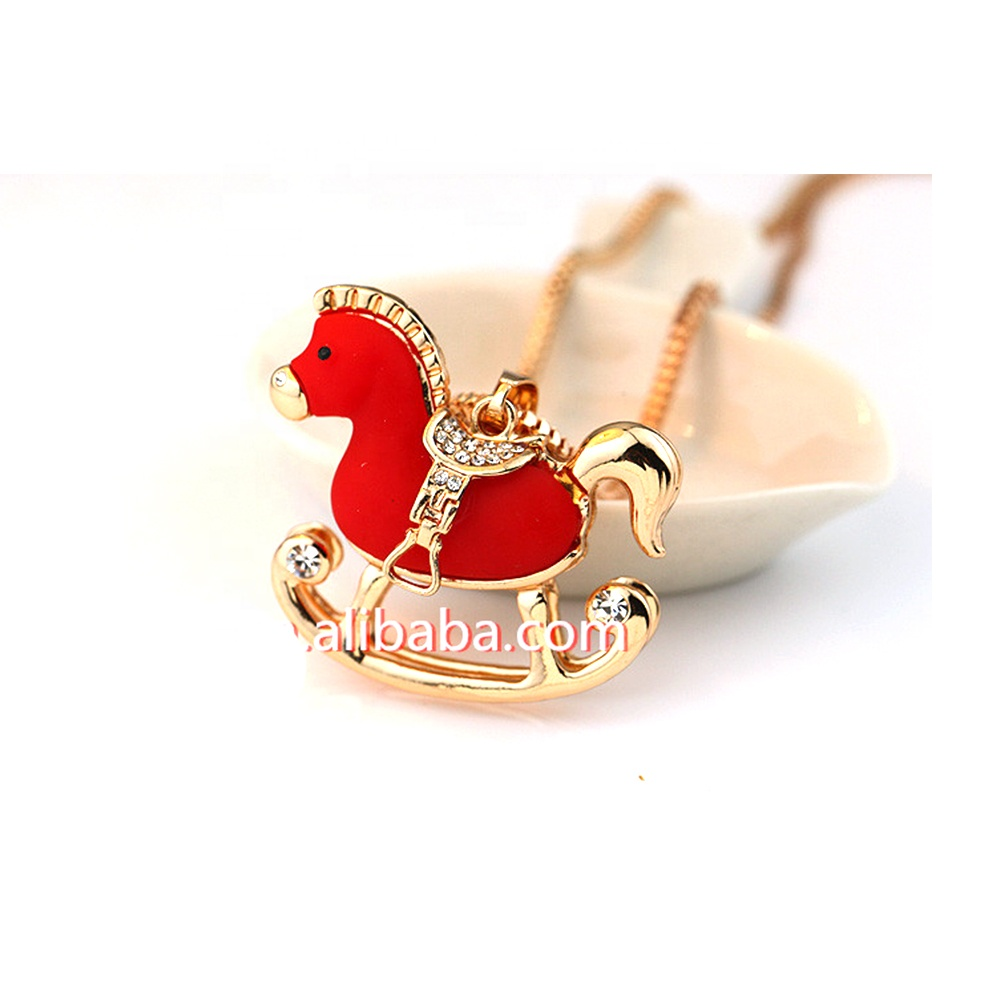 2019 Chinese zodiac horse pendant charm for necklace