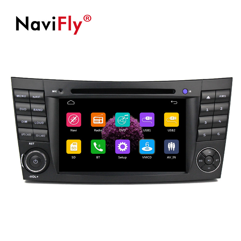 "NaviFly 7 ""di Windows ce lettore dvd multimedia audio della radio per Mercedes/Benz Classe E W211 CLK W209 w219 W463 E200 E220 E240"