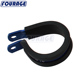 Anodized Aluminum Oil Fuel Line Hose Tube Pipe Rubber Lined Cushioned P Clamp Clip
