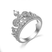 Fashion <span class=keywords><strong>Euro</strong></span>-Amerikaanse Populaire Crown Reen Craving <span class=keywords><strong>Zirkoon</strong></span> <span class=keywords><strong>Sieraden</strong></span> Ring