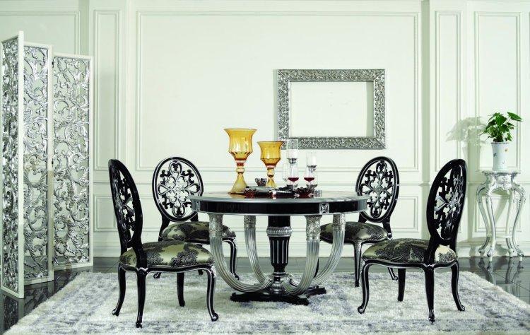 European Style Luxury Large Round Table/folding Dining ...