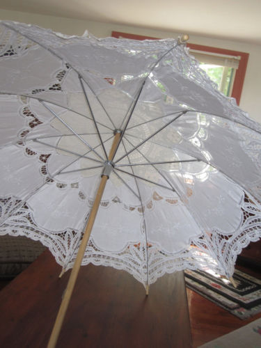 1 large cotton lace decorative umbrella for baby or bridal shower