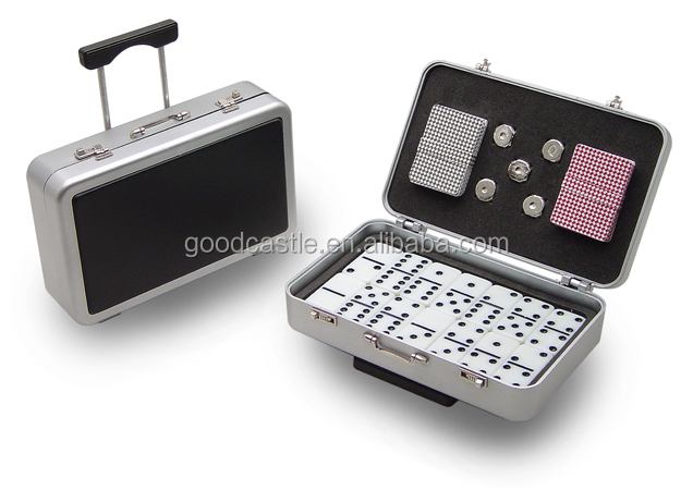 Mini travel domino game poker game and dice game set