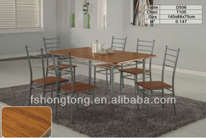 Madera y hierro forjado mesa de comedor, antigua mesa de comedor de ...