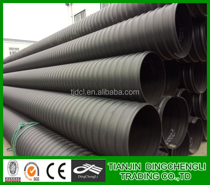 HDPE Steel Band Reinforced Corrugated Pipe/perforated drainage pipe/24 inch drain pipe