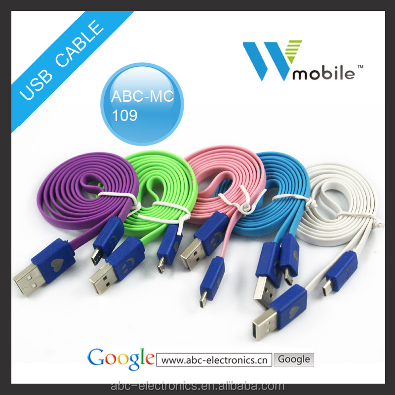lovely led smile face usb cable for samsung usb cable