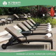 Shangri-La Hotel contract manufacturing hospitality furniture swimming pool beach outdoor chaise sun lounger with wheels