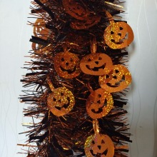 GiveU 2meter Indoor and Outdoor Decoration Halloween Tinsel Garland with Pumpkin