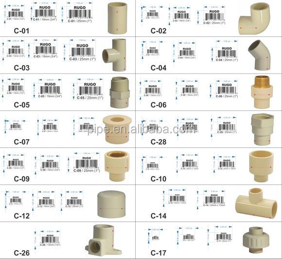 Inch dia adapter cpvc fittings pipe and