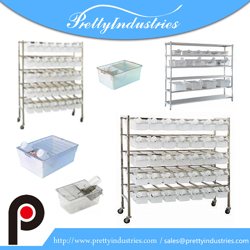 Plastic rat mouse breeding cages/laboratory rat cages