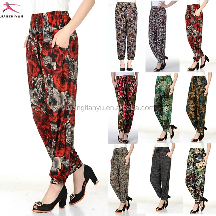 factory hot sell indian harem pants women thai harem pants baggy harem pants women