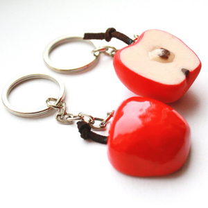 Factory Price Metal Apple Style Keychains