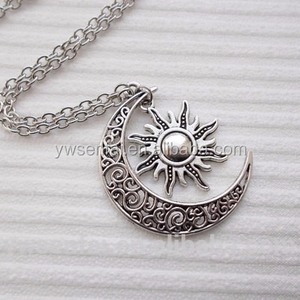 made in china sun and moon necklace 2015 new products