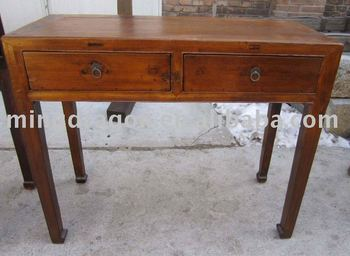 Chinese Antique Two Drawer Old wood colour Writing Desk