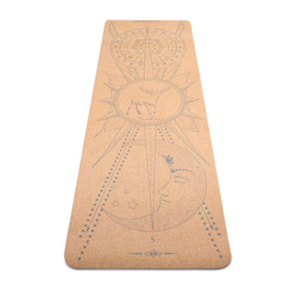 New Best 6mm Organic Thick Custom Yoga Mat TPE Suede double layer Natural Tree Rubber Eco Friendly Cork Putila Portugal Yoga Mat
