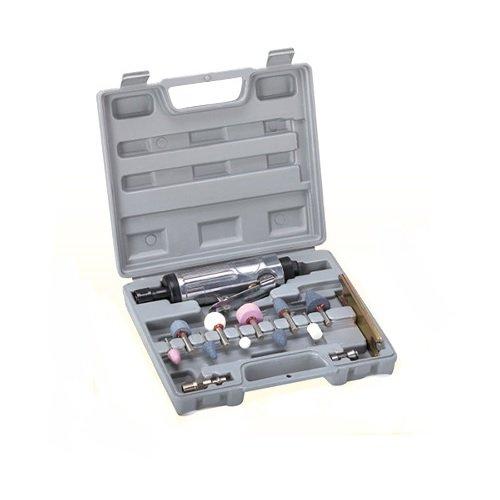 """15 PC Air Die Grinder KIT 1/4"""" 1/8"""" Rotary Air Compressor Tool Kit Set"""