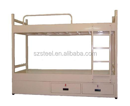 Small Packaging Volume Double Bunk Beds With Storage Metal Marine