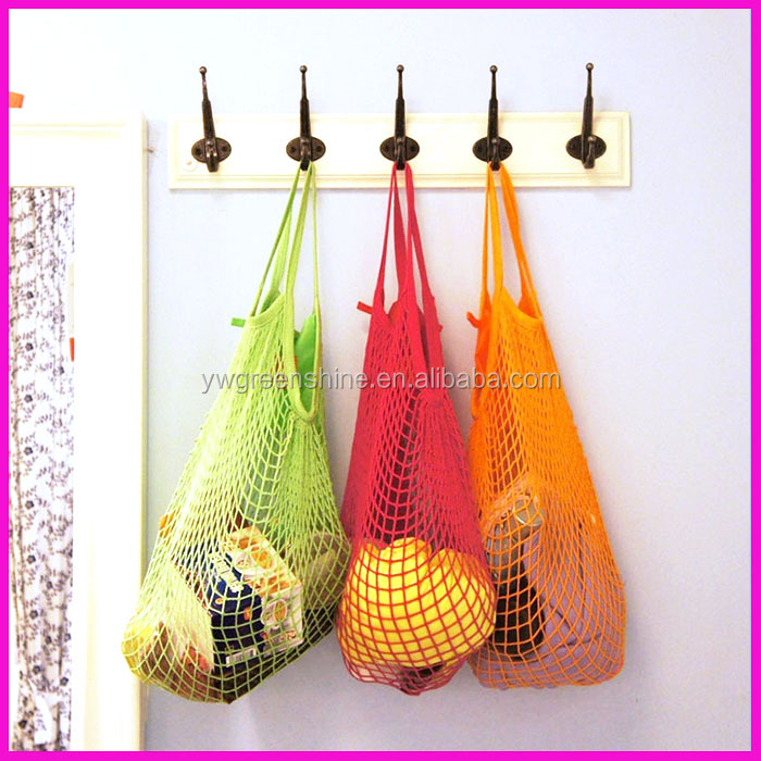 2016 Cotton Net Mesh Bag For Sun Clothes/Toys/Basketball/Storage/vegetables,Portable Shopping String Bag