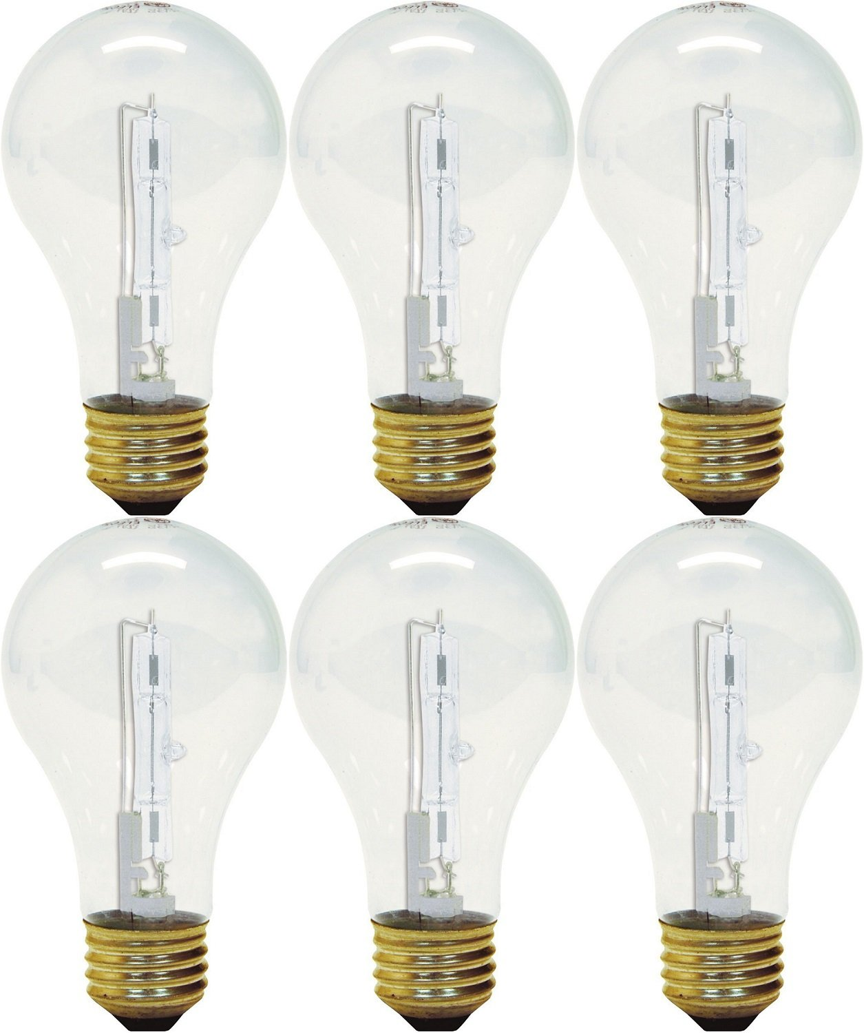 GE Lighting 78796 43 Watt Clear A19 Halogen Light Bulb pack of 3 (each 2 bulbs)