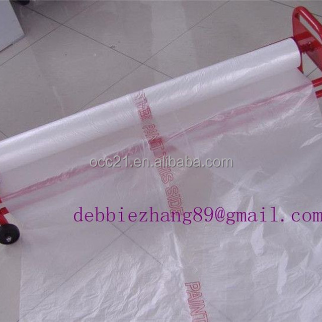 corona treated static cling pe paint protective plastic sheeting