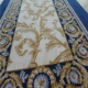 Navy Blue Beautiful Floral Cut Pile Design Wall To Wall Carpet Wool Used Hotel Carpet
