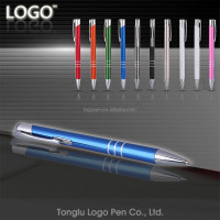 ballpoint indelible marker pen promotional logo metal ball pen