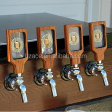 wooden top handle badges for beer
