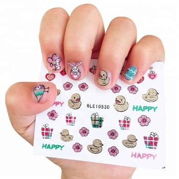 Korean Cartoon Animal 3d Glitter Nail Stickers For Kids , Buy 3d Nail  Stickers,Nail Stickers For Kids,Cartoon Nail Art Sticker Product on  Alibaba.com