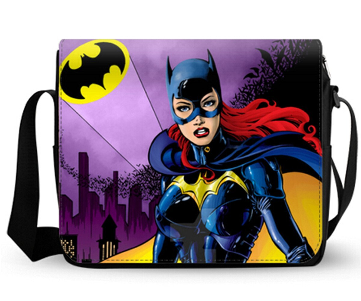 Female Cross Body Bags Messenger Shoulder bag Business Briefcase Batman Batgirl Art Print 12.2*9.4 Inch.