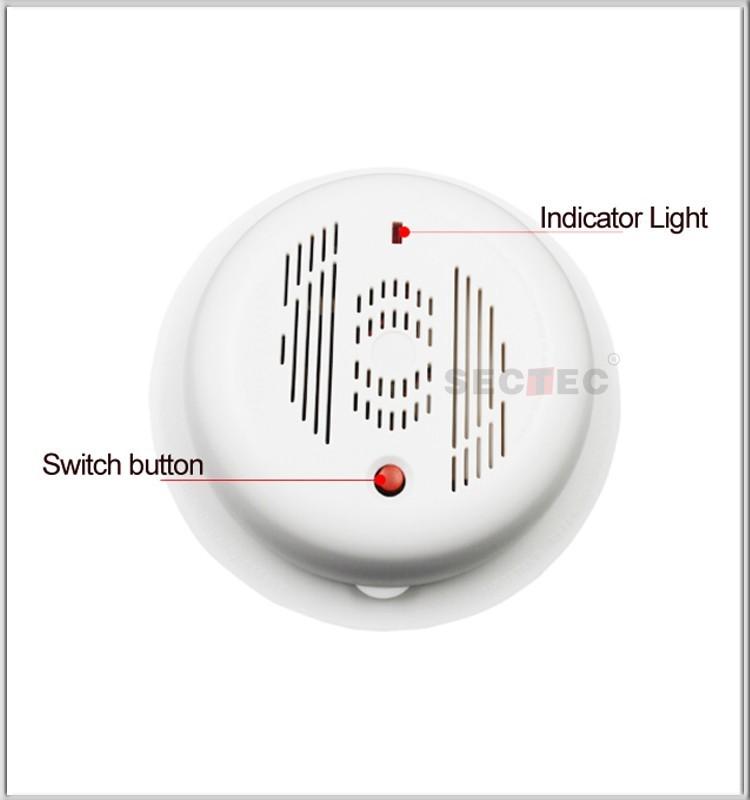 wireless alarm kit work with smart home ip camera 720p smoke sensor gas detector buy smoke. Black Bedroom Furniture Sets. Home Design Ideas