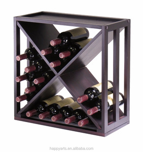 Wooden Wine Storage Cube Bottle Holder Display Rack