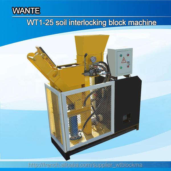 wt1 25 machine press pour briques de terre crue machine de. Black Bedroom Furniture Sets. Home Design Ideas