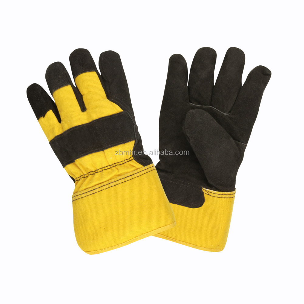 Brand MHR 10.5 patched palm cow split finished leather glove