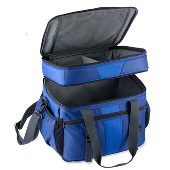 Zippered 2-compartment design large cooler box weekend manufacturer cooler bag