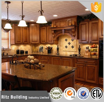 Modern Oak Solid Wood Kitchen Cabinet Nice Design Wooden Kitchen
