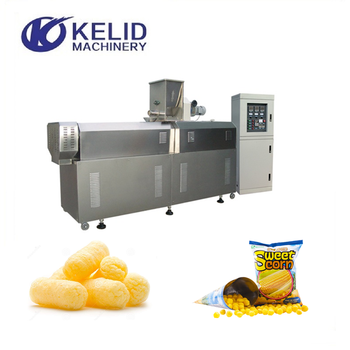 Automatic Corn Rice Cheese Ball Puff Snack Food Making Machine