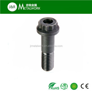 High tensile M6 M8 M10 grade 10.9 black oxide 12 point flange bolt