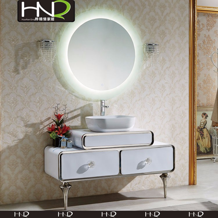 wholesale cheap price bathroom stainless steel mirror cabinet with led
