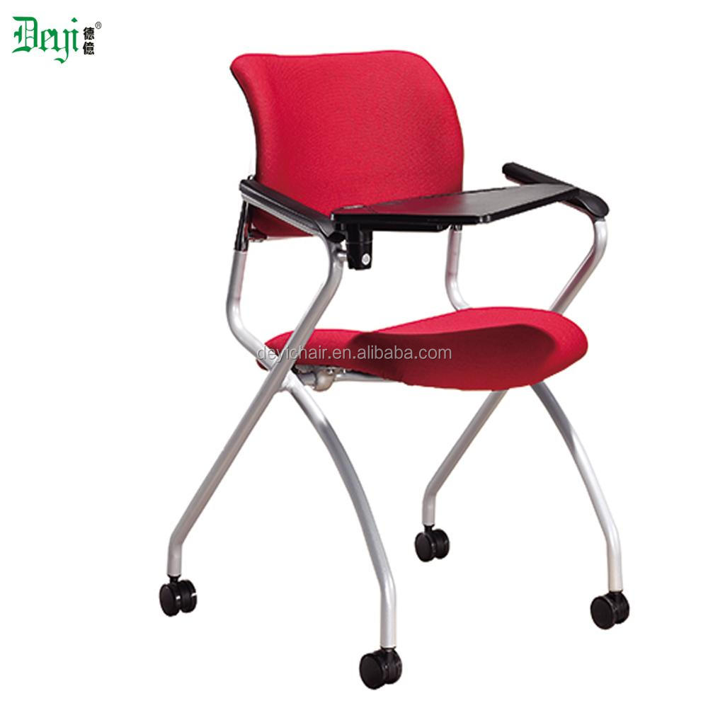 Low Back Nylon Casters With Writing Pad And Armrest Student Chair