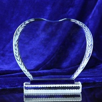 T-03 heart shaped crystal clear acrylic award trophy in high quality