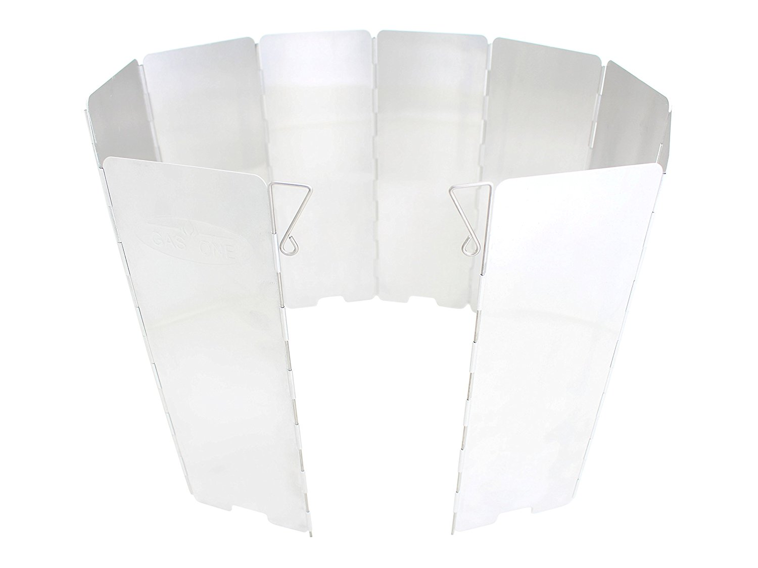Gas One Aluminum 10 Plates Windscreen: For Use with Gas One Stove and Other Backpacking Stoves, Camping Stoves, Butane Stoves, Alcohol Stoves with Carrying Case