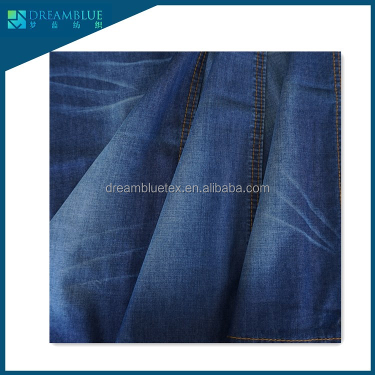 4oz 136GSM cotton rayon woven denim shirting fabric