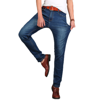 Spring Summer Straight Jeans Denim Mens Jeans Slim Fit Plus Size 48 Big And Tall Man Denim Jean Pants Y11051