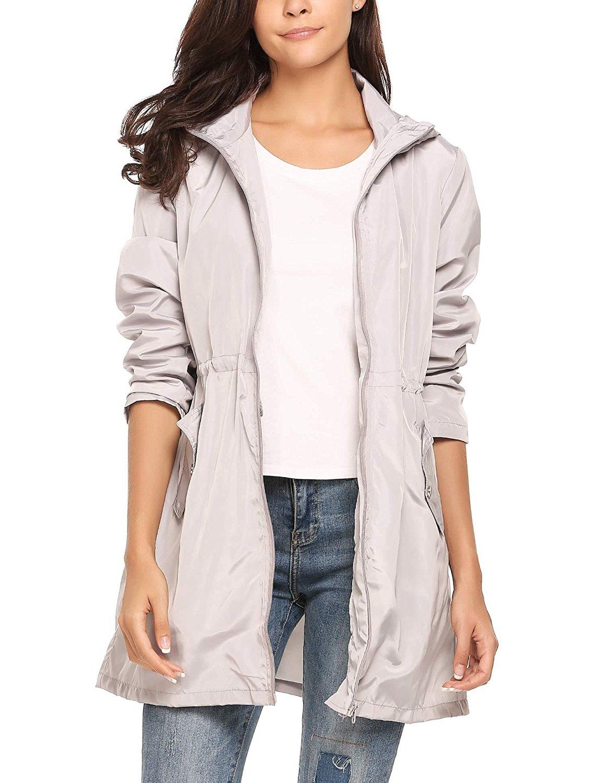 36168cb01a4 Get Quotations · cindere Raincoat Women Black Black Raincoat with Hood Women s  Plus Womens Waterproof Jacket Fleece Lined Raincoats
