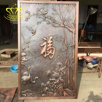 Outdoor Garden Home Wall Relief Decor Custom Large Metal Craft New Product Bronze Sculpture