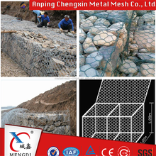 Control and guide of water or flood,Gabions Application and Woven mesh Type steel wire gabion box