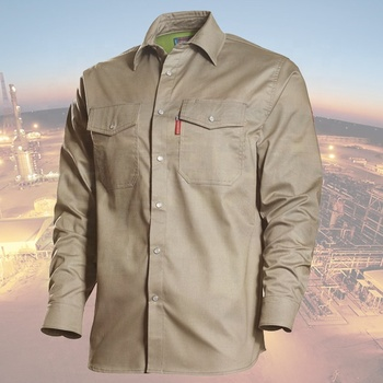 100% cotton flame resistant work uniform shirt