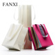 FANXI China Factory Custom Logo Shopping Bag With Handle White Red Glossy Matte Paper Jewelry Gift Bags