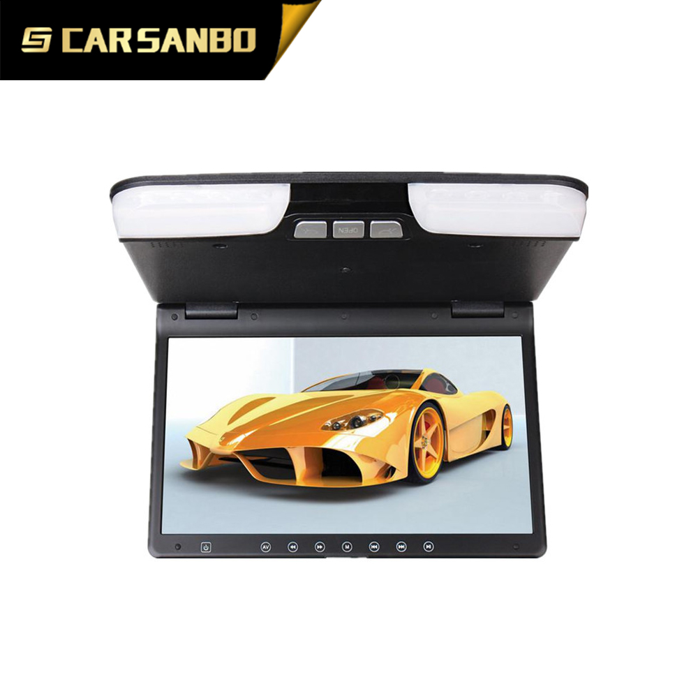High quality auto Roof 15inch dvd built-in clock function